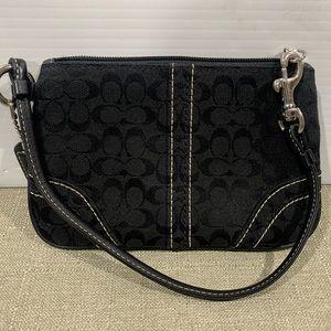 Coach Monogram Wristlet Bag Purse Wallet